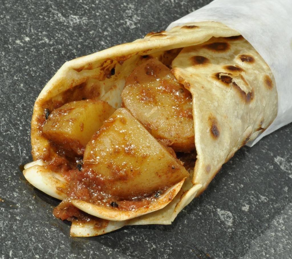 Spicy Potato Kati Roll
