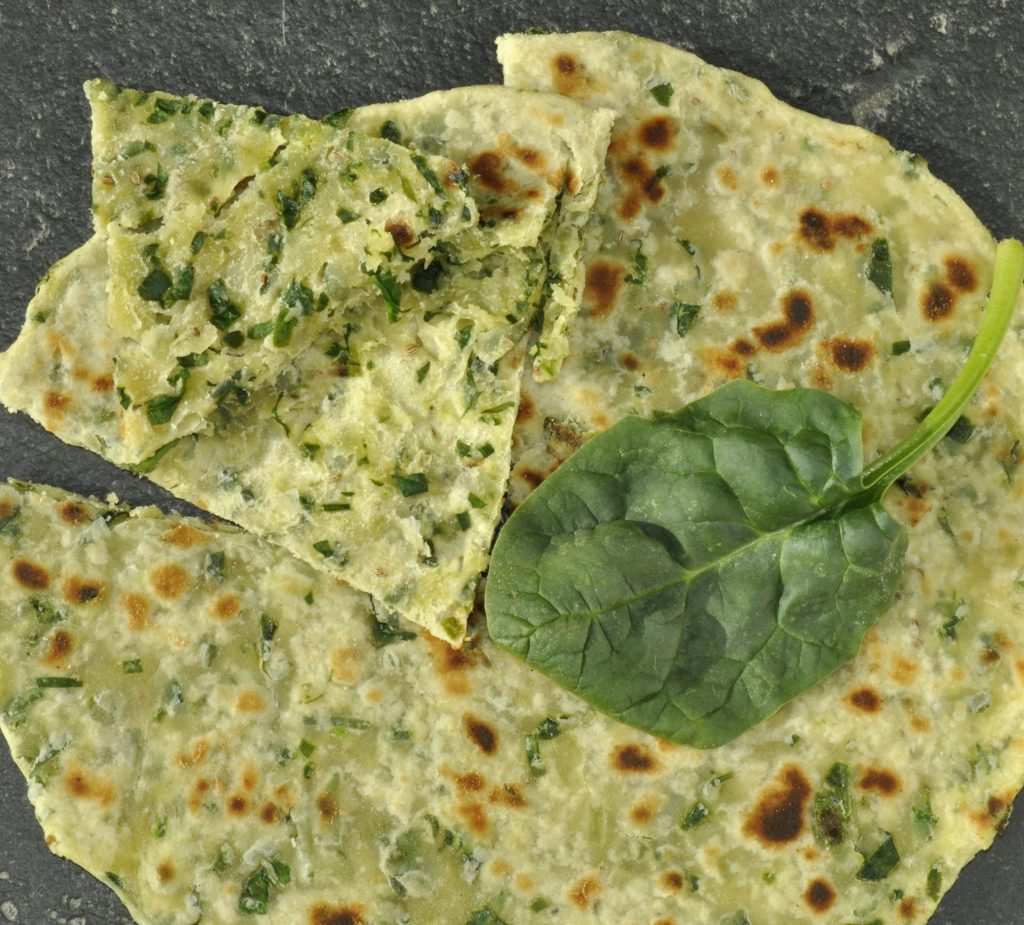 Spinach Laccha Paratha