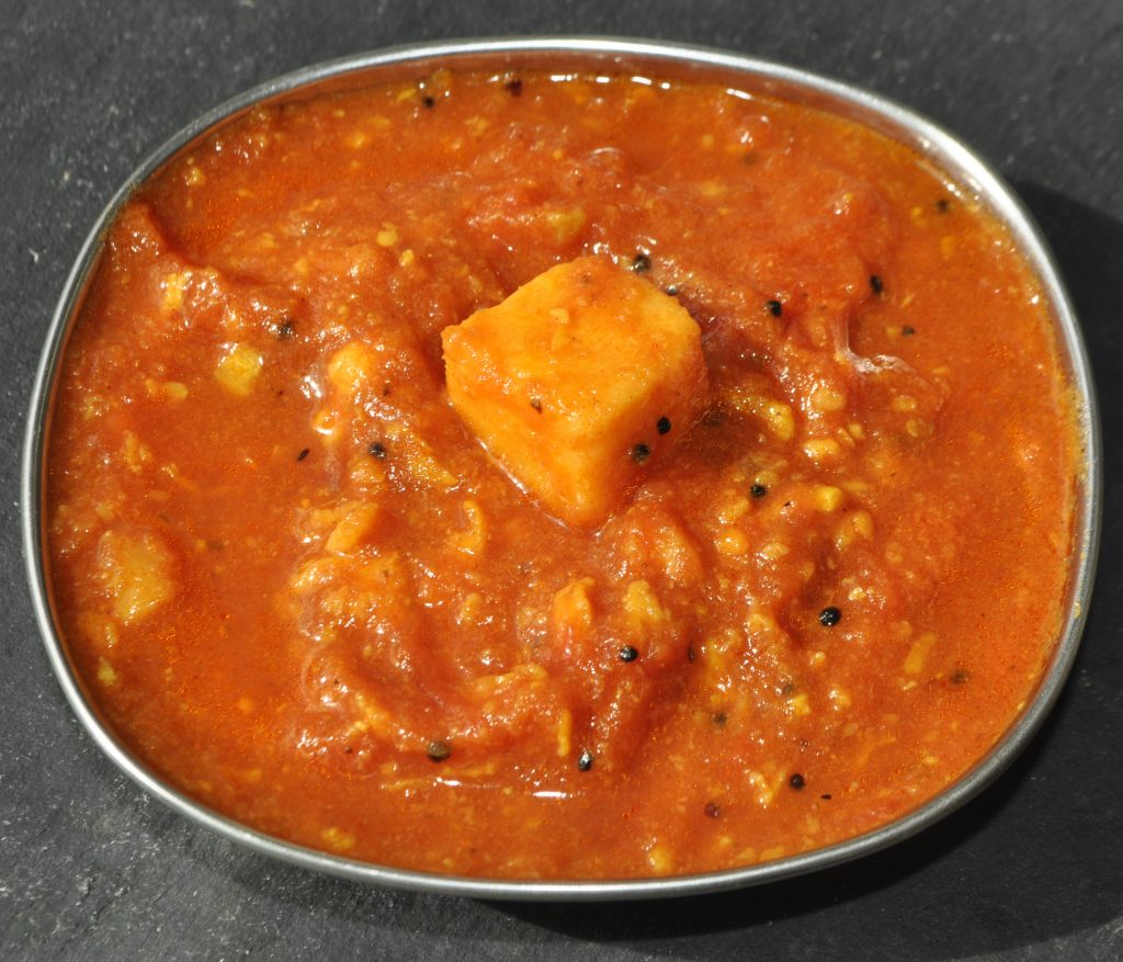 Tomato and Sweet potato curry